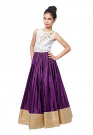 Kids Kitty Purple Lehenga