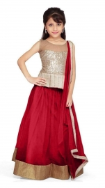 Kids Pari Red Lehenga