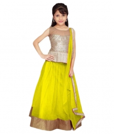 Kids Pari Yellow Lehenga