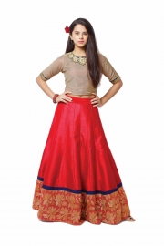 Kids Coco Red Lehenga