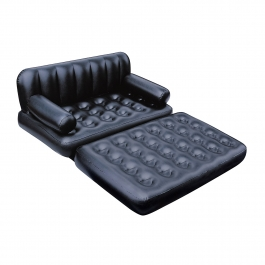 Bestway 5 In 1 Inflatable Sofa Air Bed Couch With Free Electric Pump (black)