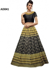 Cotton Silk Blend Printed Lehenga Choli Material  (un-stitched)