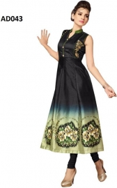 Cotton Silk Blend Printed Kurti Fabric (un-stitched)