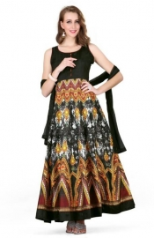Cotton Silk Blend Printed Salwar Suit Dupatta Material (un-stitched)