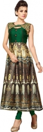 Cotton Silk Blend Printed Kurti Fabric
