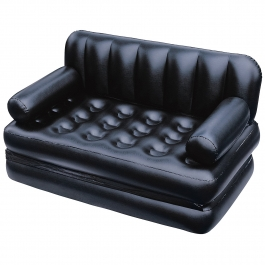 5 In 1 Inflatable Sofa Air Bed Couch With Free Electric Pump(black)