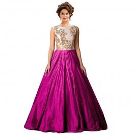Womens Designer Pink Gown