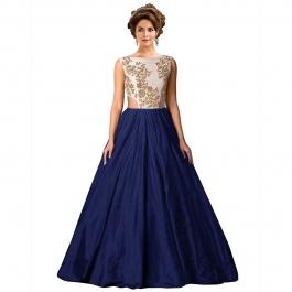 Womens Designer Blue Gown