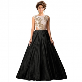 Womens Designer Black Gown