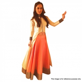 Womens Cream Lehenga