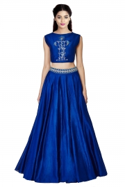 Womens Blue Lehenga
