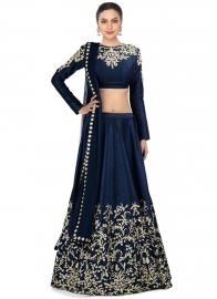 Womens Designer Blue Lehenga
