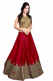 Womens Meenaxi Red Lehenga