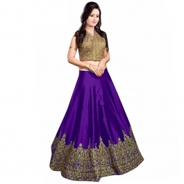 Womens Meenaxi Purple Lehenga