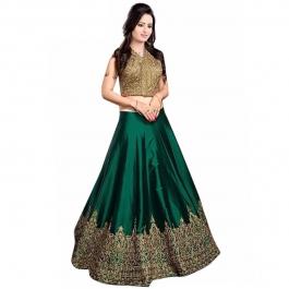 Womens Meenaxi Green Lehenga
