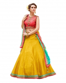 Womens Yellow Lehenga