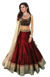 Womens Beauty Maroon Lehenga