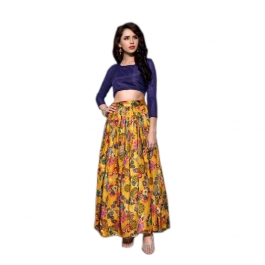Womens Babita Yellow Lehenga
