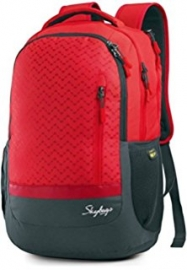 Skybags Lazer 01 Red Laptop Backpack