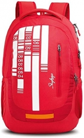 Skybags Lazer 02 Red Laptop Backpack