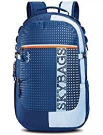 Skybags Lazer Plus 01 Blue Laptop Backpack