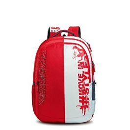 Skybags Pogo Plus 01 Red Laptop Backpack