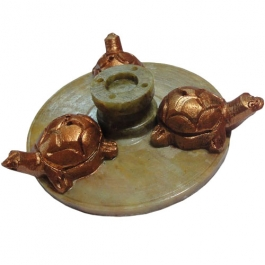 Incense Stick Holder -triple Tortoise (stone)