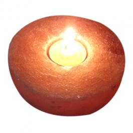 Round Rock Salt T-light Candle