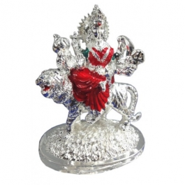 Durga Idol (silver Plated)
