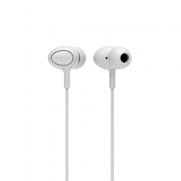 Remax Rm-515 High Performance Earphones With Microphone,in-ear Headphones Stereo Headset With Enhanced Bass,tangle-free Cord For Android Phones And Tablets (white)