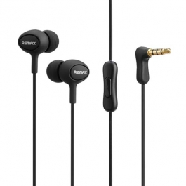 Remax Rm-515 High Performance Earphones With Microphone,in-ear Headphones Stereo Headset With Enhanced Bass,tangle-free Cord For Android Phones And Tablets (black)