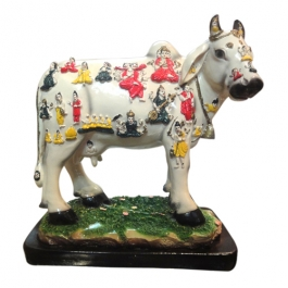 Kamdhenu Cow With Deities