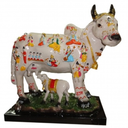 Kamdhenu Cow Deities With Calf