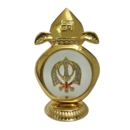 24k Gold Plated Khanda Showpiece