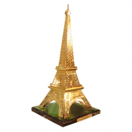 Gold Plated Crystal Eiffel Tower Paris - 21cms