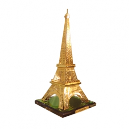 Gold Plated Crystal Eiffel Tower Paris - 15cms