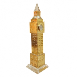 Gold Plated Crystal Big Ben Clock Tower London - 22.5cms