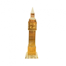 Gold Plated Crystal Big Ben Clock Tower London - 12.5cms