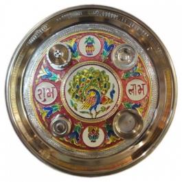 Pooja/aarti/shagun Thali (meenakari)