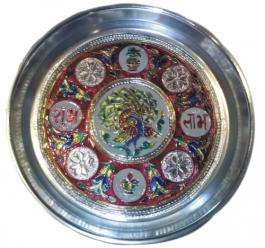 Pooja/shagun Thali (meenakari)