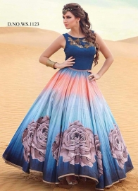 Pearcian Blue Semi-stitched Gown