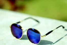 Sunglasses New Design Blue Mercurey Round Goggles For Men And Women