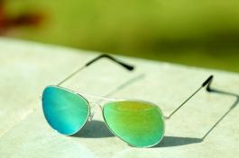Stylish Yellow Blue Shade Aviator Sunglasses Goggles For Men