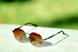 New Style Brown Round Sunglasses Goggles For Men Women
