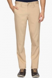 Mens Regular Fit 4 Pocket Solid Chinos