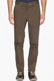 Mens Regular Fit 5 Pocket Solid Chinos
