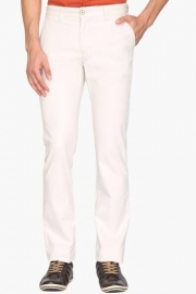 Mens Regular Fit 4 Pocket Solid Trousers