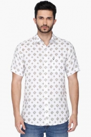 Allen Sollymens Slim Fit Printed Shirt