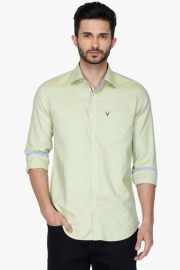 Allen Solly Mens Slim Fit Solid Shirt