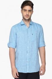 Allen Solly Mens Slim Fit Slub Shirt